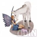 Hada besando Unicornio - grande